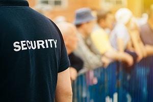 放大的视野的事件安全官员保护事件在chico市ca