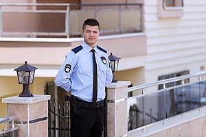 an onsite security officer providing San Bernardino, CA security services