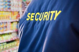 数字合成的超市保安