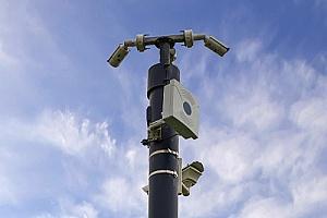 用于远程监控的移动闭路电视拖车