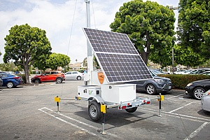 one of the remote surveillance units being used by a California security company