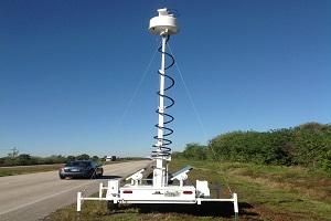 高速公路上的雷达拖车系统
